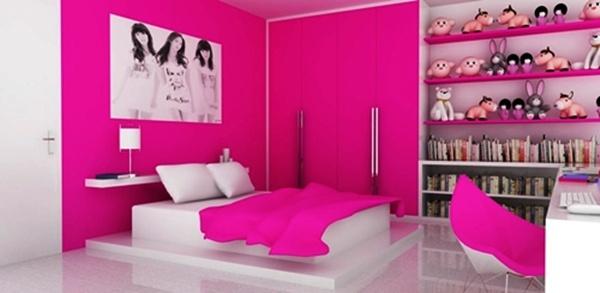 Desain Kamar Tidur Anak Perempuan Minimalis Warna Pink 2