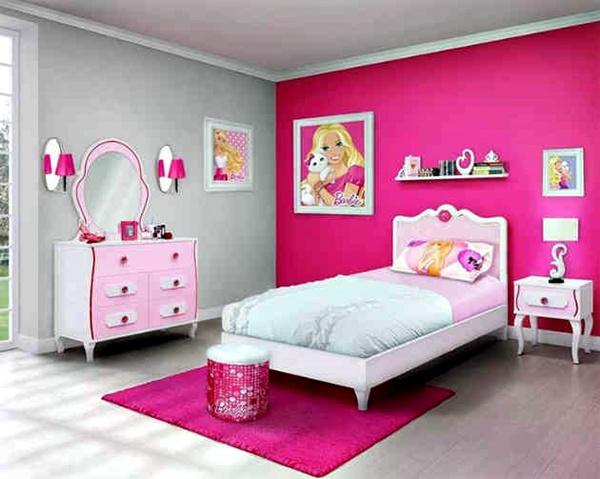 Desain Kamar Tidur Anak Perempuan Minimalis Warna Pink 3