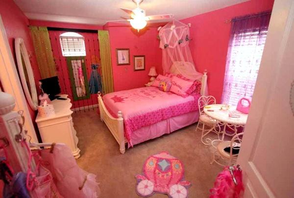 Desain Kamar Tidur Anak Perempuan Minimalis Warna Pink 4