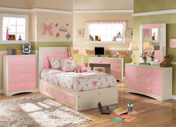Kamar Tidur Anak Perempuan Cream