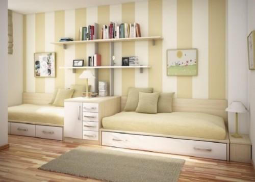 Kamar Tidur Anak Perempuan Sederhana Cream - 22 Desain Kamar Tidur Anak Perempuan Sederhana