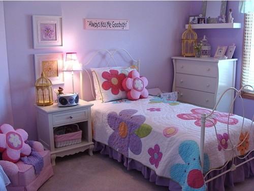 Kamar Tidur Anak Perempuan Sederhana Ungu 1 - 22 Desain Kamar Tidur Anak Perempuan Sederhana