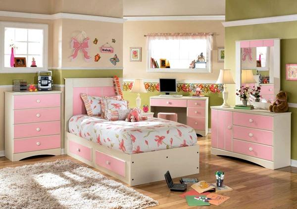 Kamar Tidur Anak Perempuan Sederhana Warna Cream