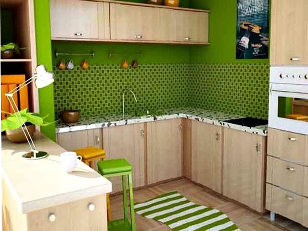 Motif Keramik Dinding Dapur Hijau
