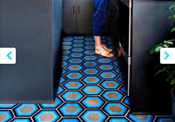Motif Keramik Lantai Warna Biru