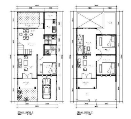 Denah Rumah Minimalis 3 Kamar Tidur 2 Lantai 1 - 21 Contoh Denah Rumah Minimalis 3 Kamar Tidur 1 dan 2 Lantai