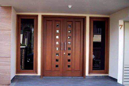 Gambar Pintu Rumah Minimalis 2 Pintu - Contoh Gambar Pintu Rumah Minimalis 2 Pintu Besar Kecil 2018