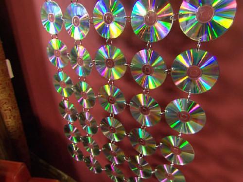 Гирлянды из дисков своими руками
