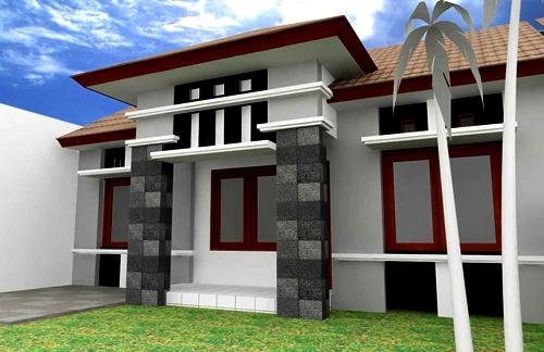 Model Tiang Teras Rumah Minimalis 3 - 17 Model Tiang Teras Rumah Minimalis Modern Masa Kini