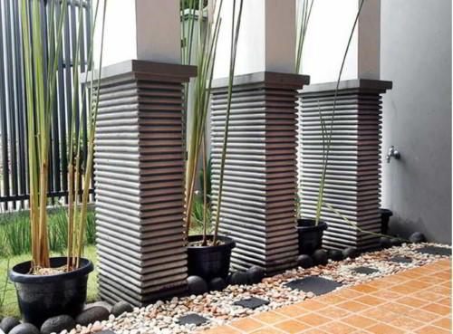 Model Tiang Teras Rumah Minimalis Persegi - 17 Model Tiang Teras Rumah Minimalis Modern Masa Kini