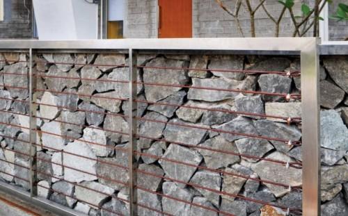 Pagar Rumah Minimalis Batu Alam 12 - 22 Gambar Pagar Rumah Minimalis Batu Alam Terbaru 2018