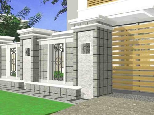 Pagar Rumah Minimalis Batu Alam 3 - 22 Gambar Pagar Rumah Minimalis Batu Alam Terbaru 2018