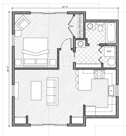 Image Result For Denah Rumah Sederhana Dan Elegan