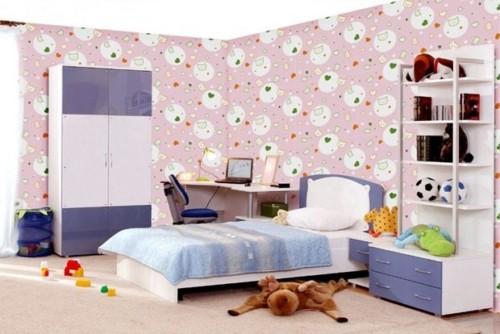 Wallpaper Dinding Kamar Tidur Anak Perempuan 10 - 25 Motif Wallpaper Dinding Kamar Tidur Anak Perempuan dan Laki-laki