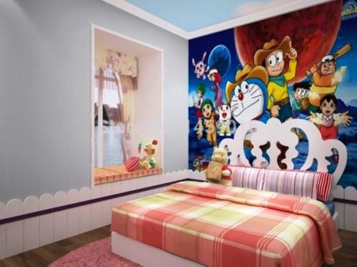Wallpaper Dinding Kamar Tidur Anak Perempuan 4 - 25 Motif Wallpaper Dinding Kamar Tidur Anak Perempuan dan Laki-laki