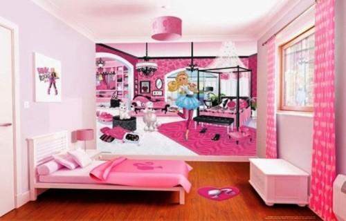 Desain Kamar Tidur Anak Perempuan Barbie 2 - 22 Desain Kamar Tidur Anak Perempuan Frozen, Hello Kitty, Barbie