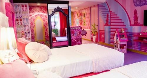 Desain Kamar Tidur Anak Perempuan Barbie 6 - 22 Desain Kamar Tidur Anak Perempuan Frozen, Hello Kitty, Barbie