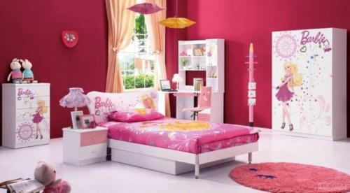 Desain Kamar Tidur Anak Perempuan Barbie 7 - 22 Desain Kamar Tidur Anak Perempuan Frozen, Hello Kitty, Barbie