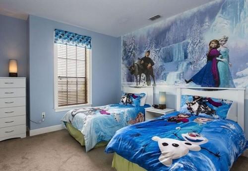 Desain Kamar Tidur Anak Perempuan Frozen 1 - 22 Desain Kamar Tidur Anak Perempuan Frozen, Hello Kitty, Barbie