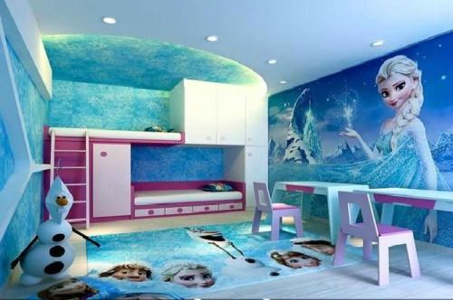 Desain Kamar Tidur Anak Perempuan Frozen 4 - 22 Desain Kamar Tidur Anak Perempuan Frozen, Hello Kitty, Barbie