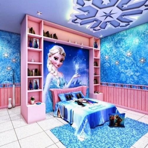 Desain Kamar Tidur Anak Perempuan Frozen 6 - 22 Desain Kamar Tidur Anak Perempuan Frozen, Hello Kitty, Barbie