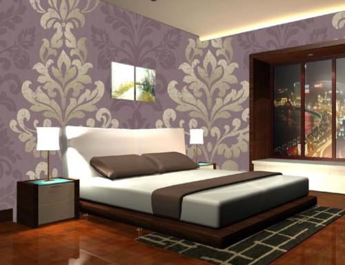 Wallpaper Desain Kamar Tidur Pengantin Romantis 13