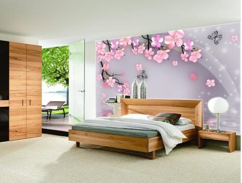Wallpaper Desain Kamar Tidur Pengantin Romantis 8