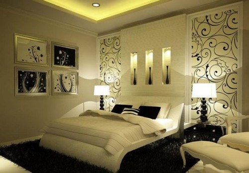 Wallpaper Desain Kamar Tidur Pengantin Romantis 9