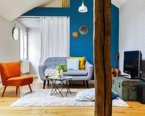 Warna Cat Ruang Tamu 2 Warna 2 - 18 Warna Cat Ruang Tamu Minimalis yang Bagus Terbaru