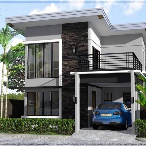 Bentuk Rumah Sederhana 2 Lantai Ukuran 6x9