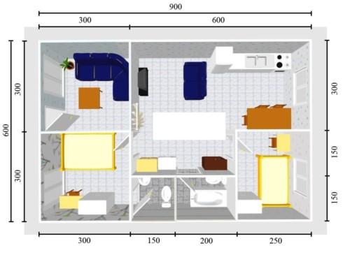 Bentuk Rumah Sederhana Ukuran 6x9 1 Lantai