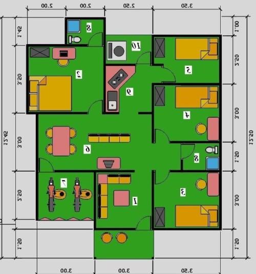 Popular 39+ Desain Denah Rumah 1 Lantai 5 Kamar Tidur ...