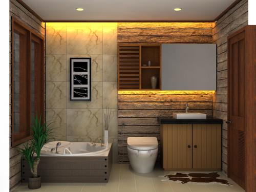 Desain Kamar Mandi Minimalis Modern Kloset Duduk 5 - 20 Desain Kamar Mandi Minimalis Modern Kloset Duduk