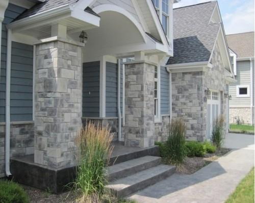 20+ Dinding & Tiang Teras Rumah Minimalis Batu Alam Terbaik