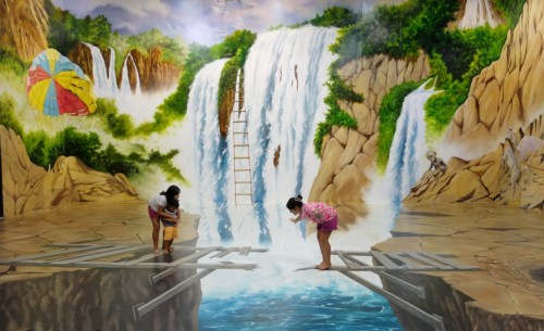 Lukisan Dinding Kamar Pemandangan Air Terjun - 20 Gambar Lukisan Dinding Ruangan 3D Pemandangan Alam dan Hewan