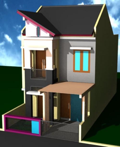 Rumah 2 Lantai Ukuran 6x9 yang Unik