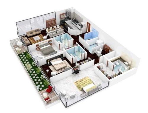 Denah Rumah Minimalis Modern Ukuran 7x9
