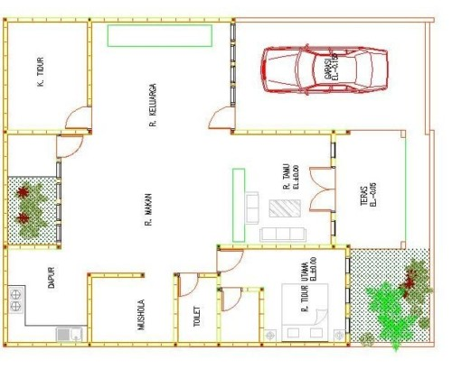 Desain Rumah Sederhana Ukuran 7x9 Meter
