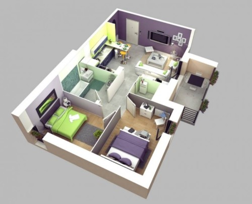 Rumah Minimalis Sederhana Ukuran 7x9
