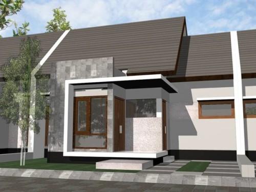 Rumah minimalis dengan batuan alam