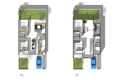 Sketsa Rumah Sederhana Ukuran 7x9 Terbaru