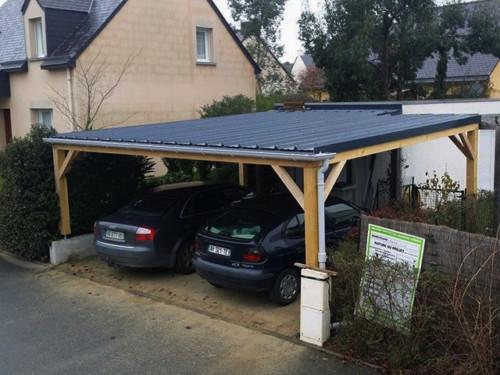 23 desain garasi mobil rumah minimalis kecil terlengkap 2018 for Garage en bois pour 2 voitures