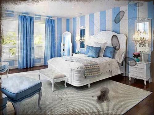 Baru 23 Kombinasi Cat Tembok Biru Putih
