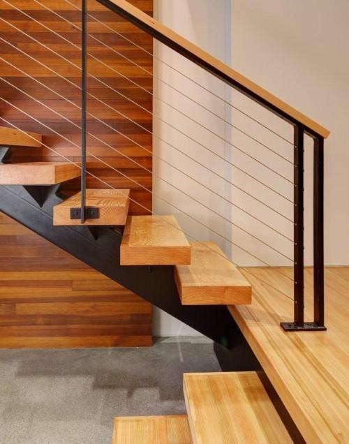 Tangga Rumah Minimalis Kayu ... & 20 Desain Tangga Rumah Minimalis di Ruangan Sempit dan Kecil