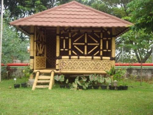 Contoh Gambar Gazebo Bambu