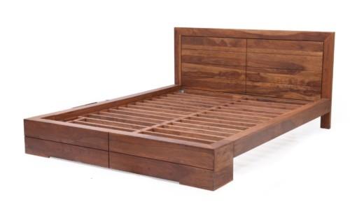Model Tempat Tidur Kayu Jati Minimalis