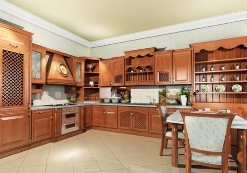 Lemari Dapur Kayu Desain Menyeluruh