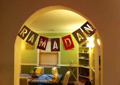 Hiasan Gantung di Pintu Tema Ramadhan