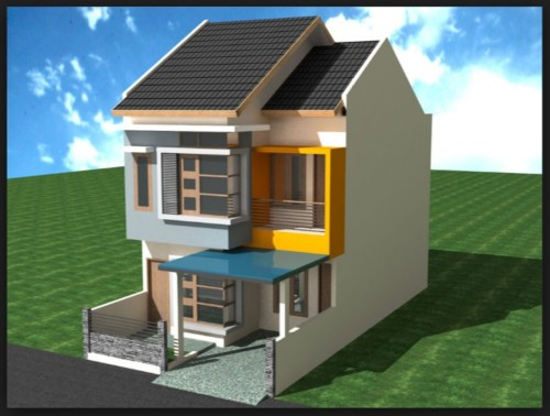Tampak Depan Rumah Minimalis 6x12 Meter