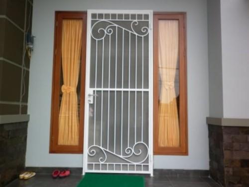 Gambar Teralis Pintu Besi Minimalis
